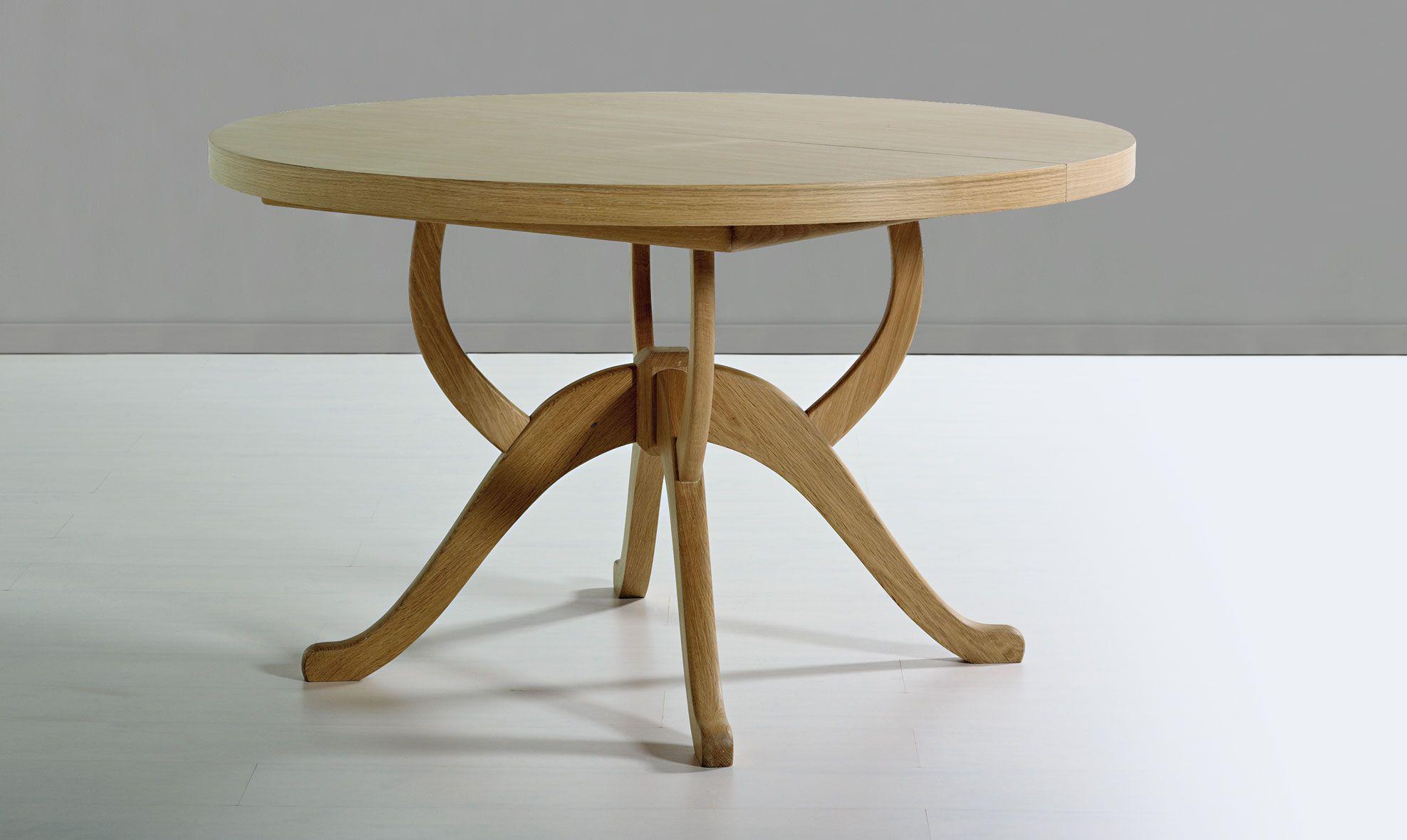 Mesa de edor redonda extensible Vintage Kudre