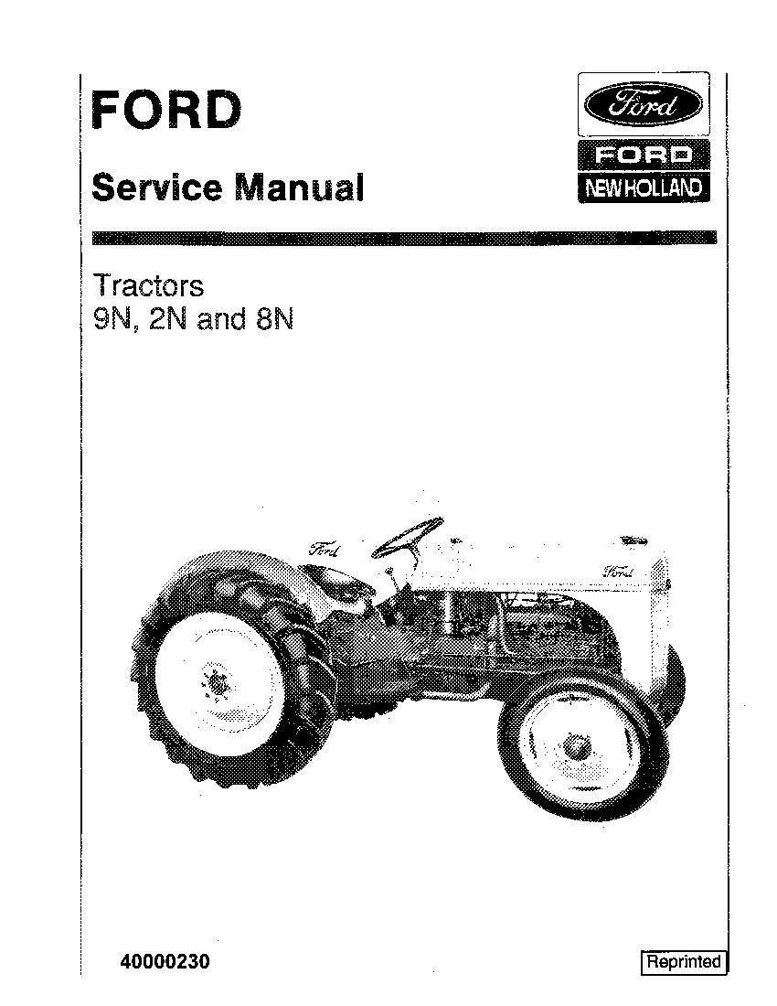 New Holland 9N 2N 8N Tractors Workshop Repair Service