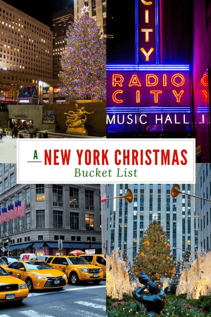 A New York City Christmas Bucket List