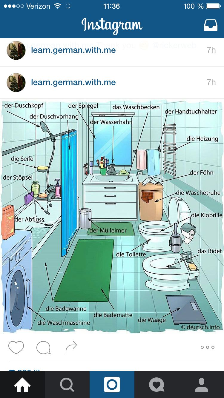 Bathroom German | German language learning, German language, Learn german
