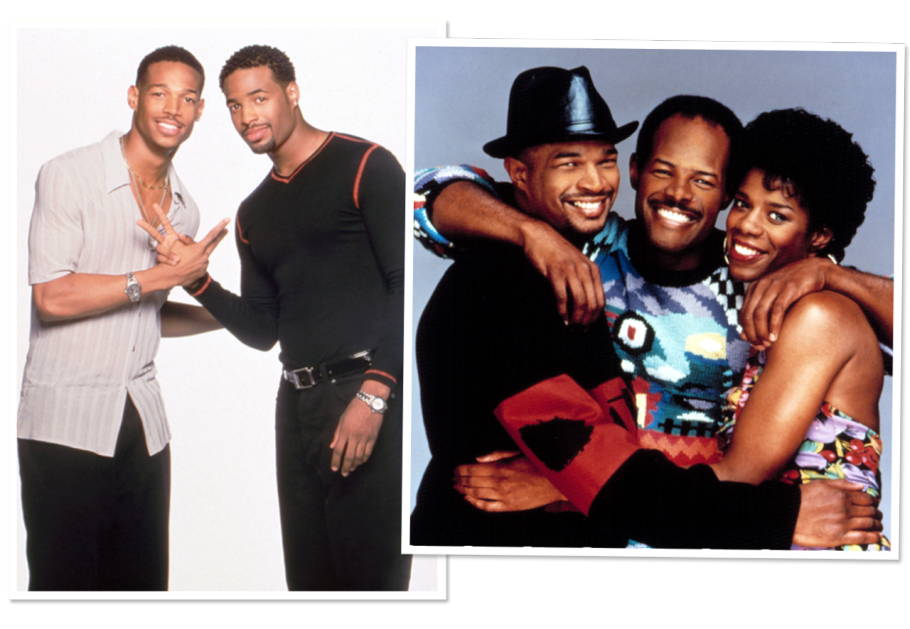 Marlon and Shawn Wayans in a still for The Wayans Bros