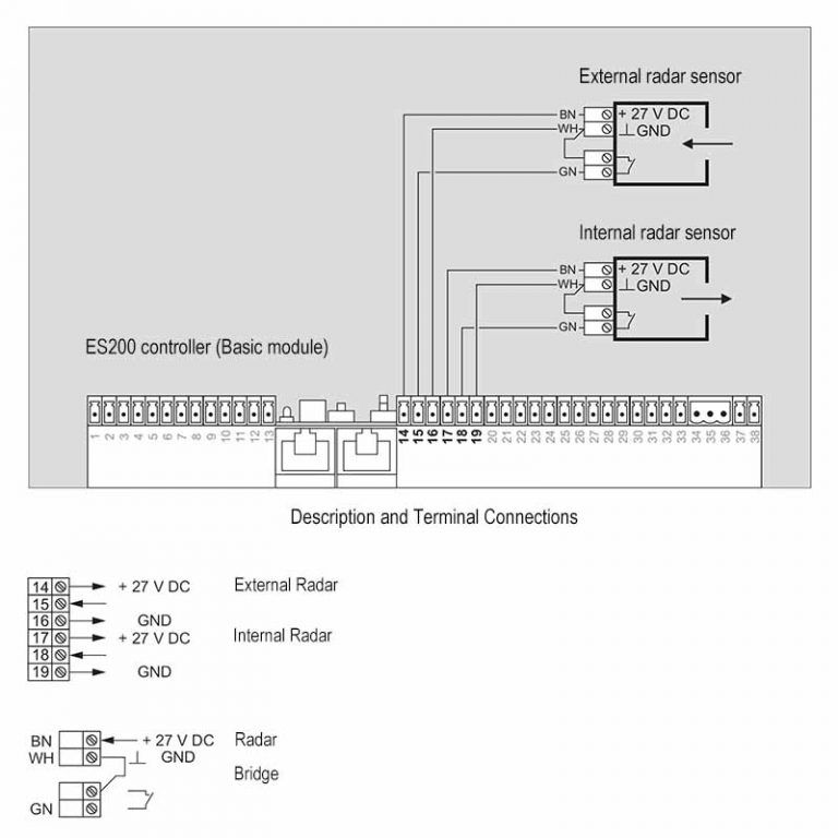 Es200 Wiring Diagram Connection Scheme Automatic Sliding Doors Diagram Automatic Door