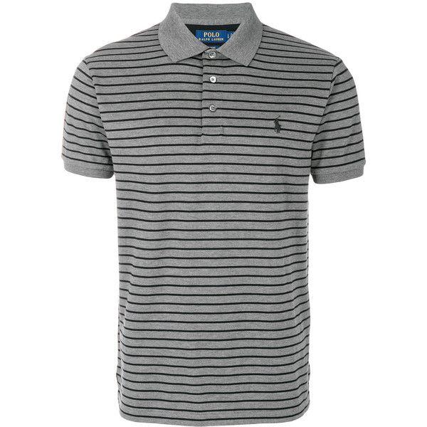 Polo Ralph Lauren custom slim striped polo shirt (350 BRL) ? liked on  Polyvore