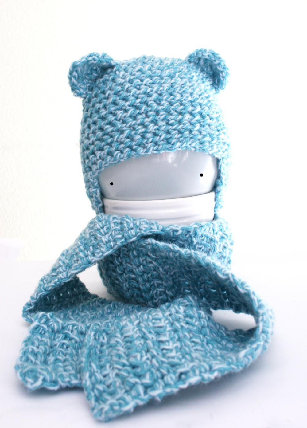 Bear Crochet Baby Hat