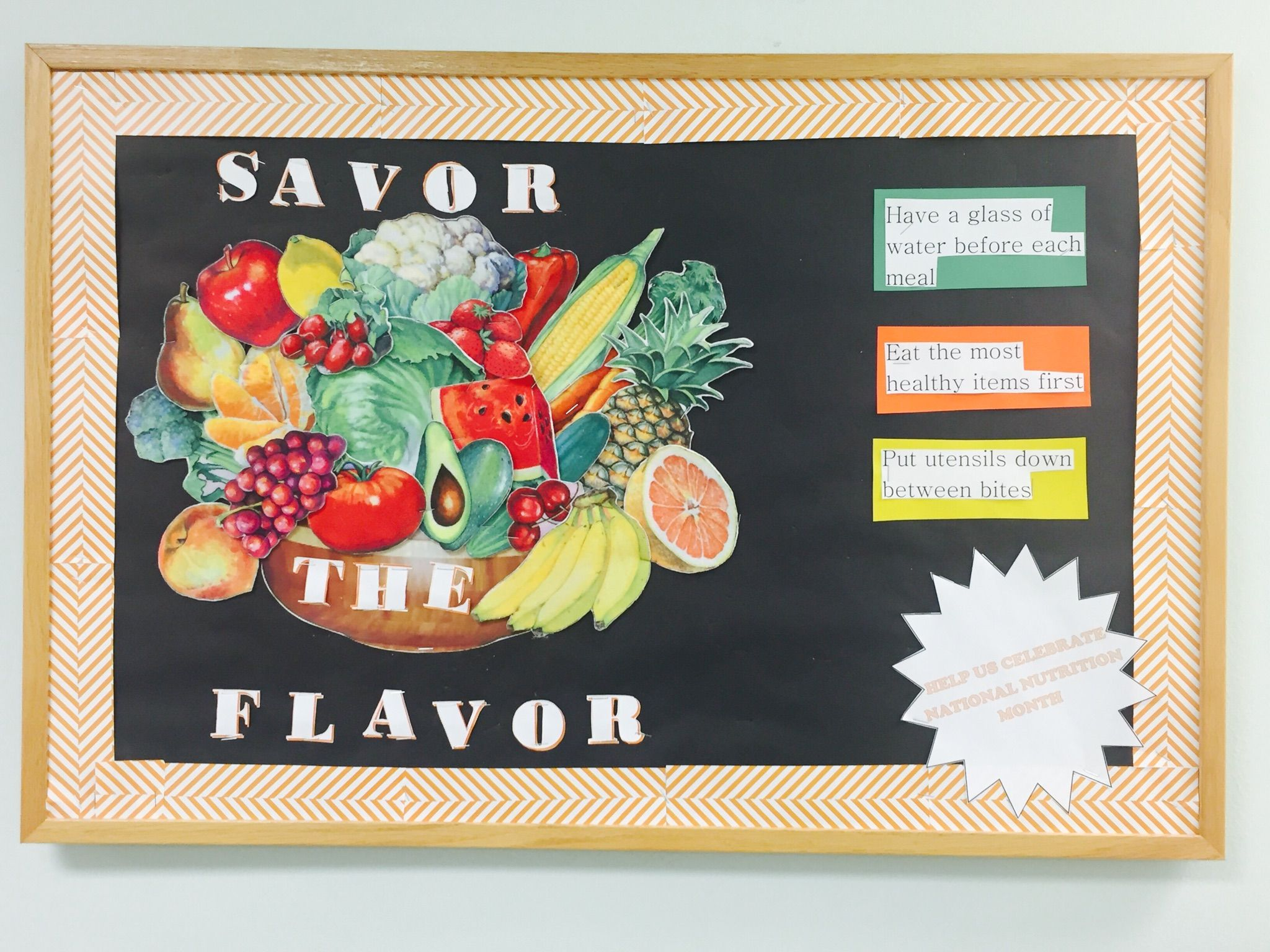 Go green vegetable bulletin board idea myclassroomideas com - National Nutrition Month 2016 Griffin Ga Savortheflavor National Nutrition Month 2016bulletin Boardsgriffinsschool Ideas
