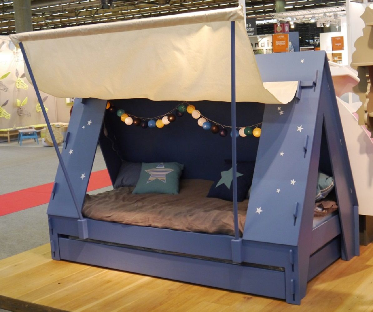 Kids Tent Cabin Canopy Bed With Images Bed Tent Bunk Bed Tent