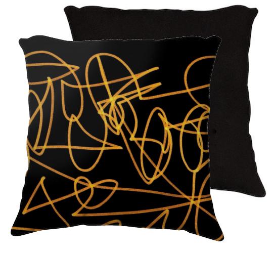 """18x18+pillow+""""Doodle""""+by+eliso+ignacio+silva+simancas"""