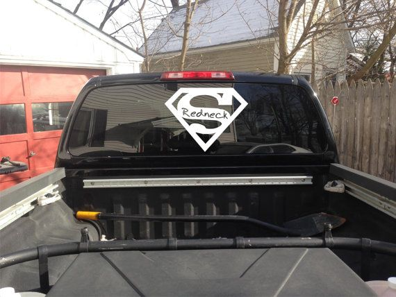 Super Redneck Vinyl Window Decal Sticker Vinyl Windows And - Redneck window decals for trucks