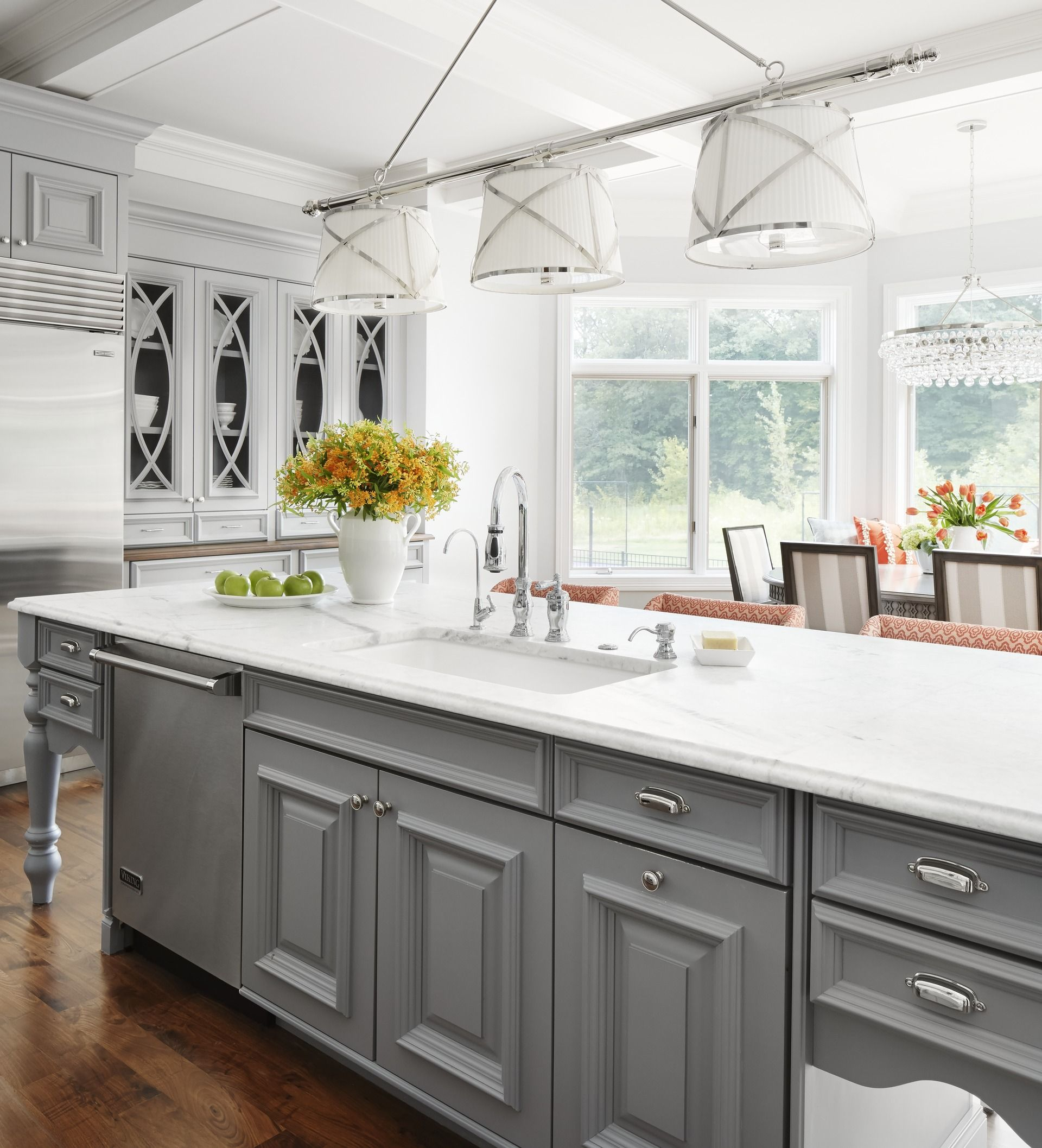 20 Ideas For Grey Kitchens Both: Midwest Kitchen That's Gorgeous In Gray In 2019