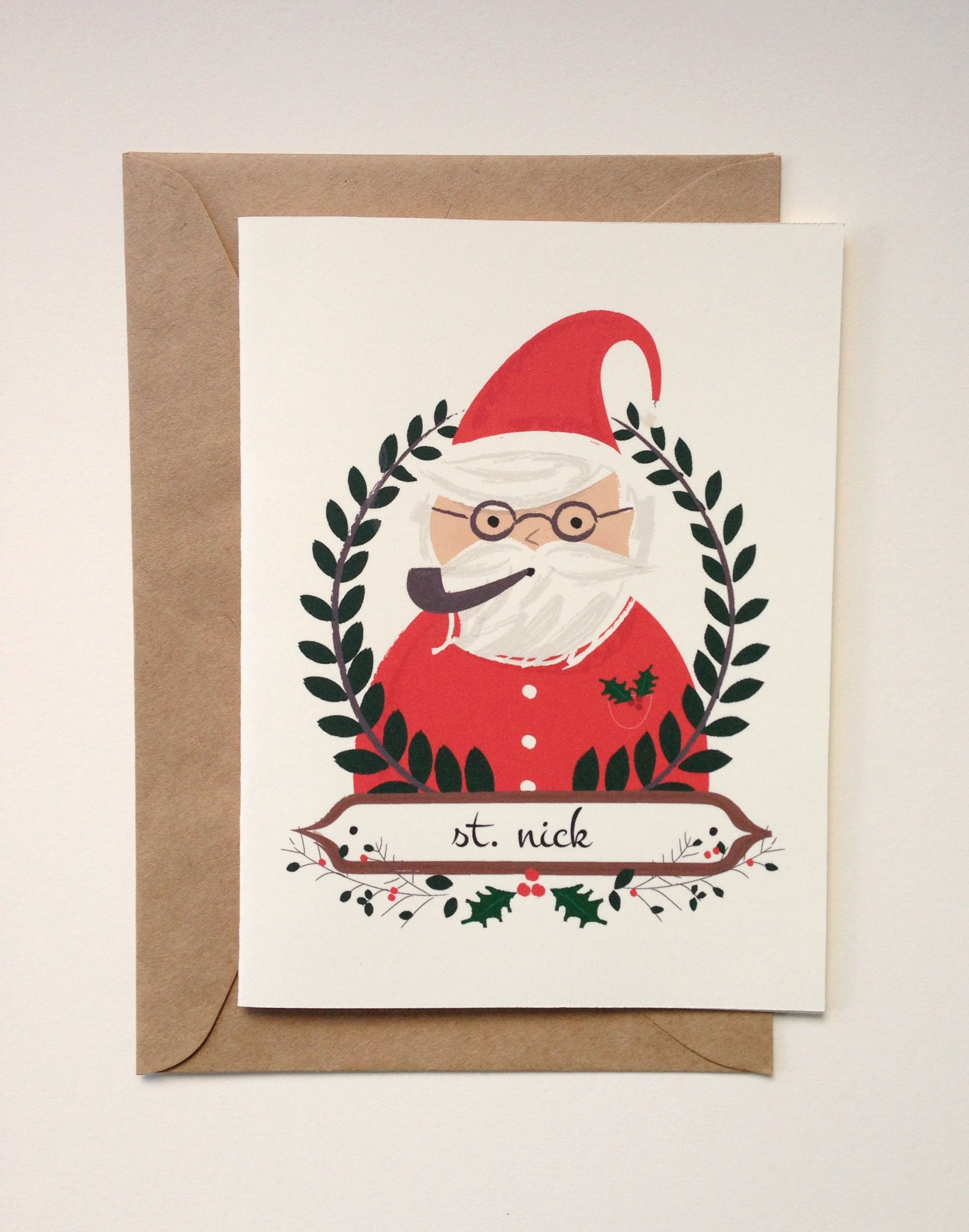 Christmas greeting card from gable paper co happy holidays christmas greeting card from gable paper co happy holidays pinterest christmas greeting cards christmas illustration and holidays kristyandbryce Choice Image