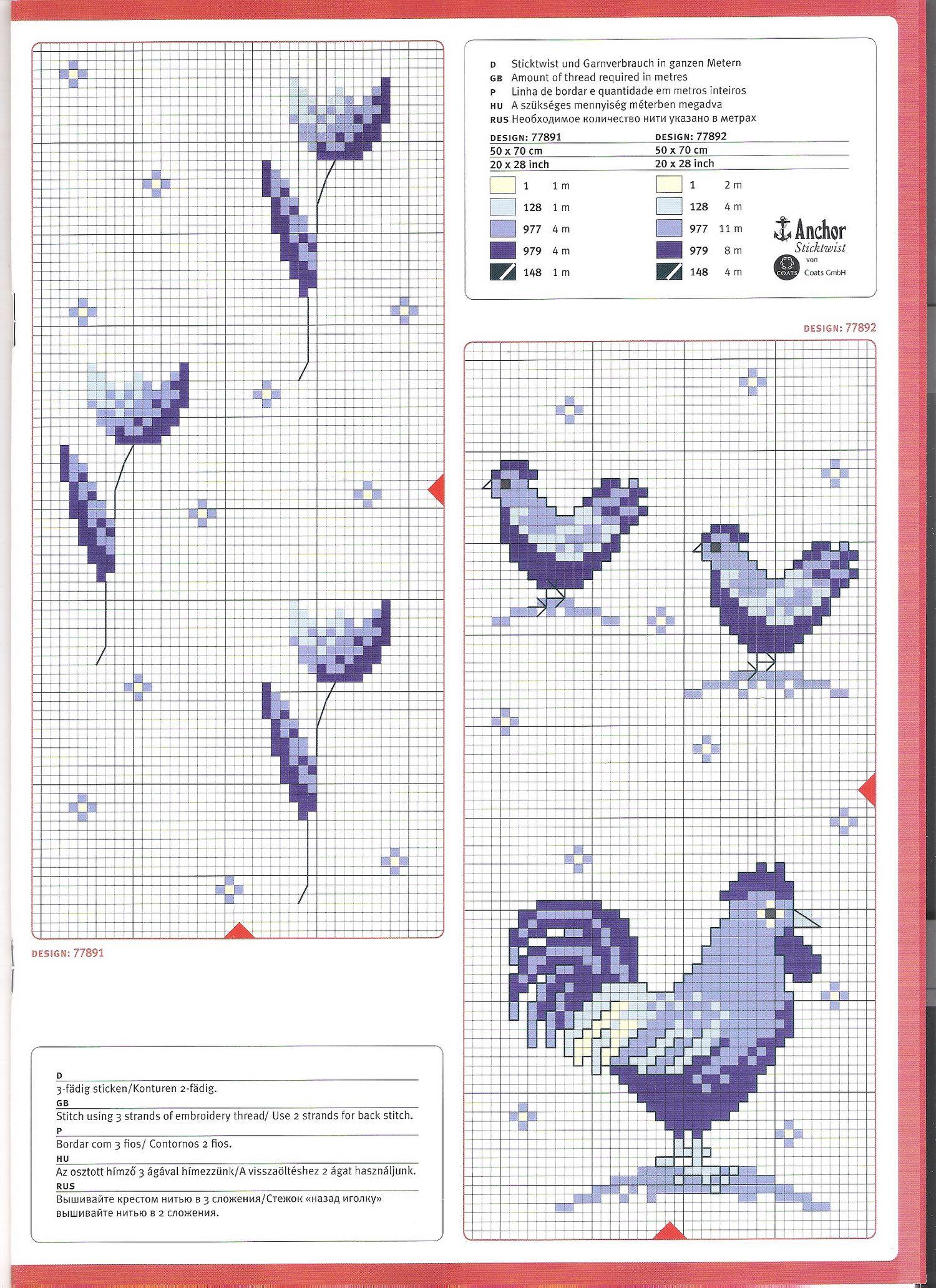 Pin de Marina Cardona Arboleda en Punto cruz gallos | Pinterest ...