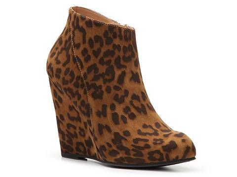 aa7acc5a4062 Madden Girl Zumba Leopard Wedge Bootie
