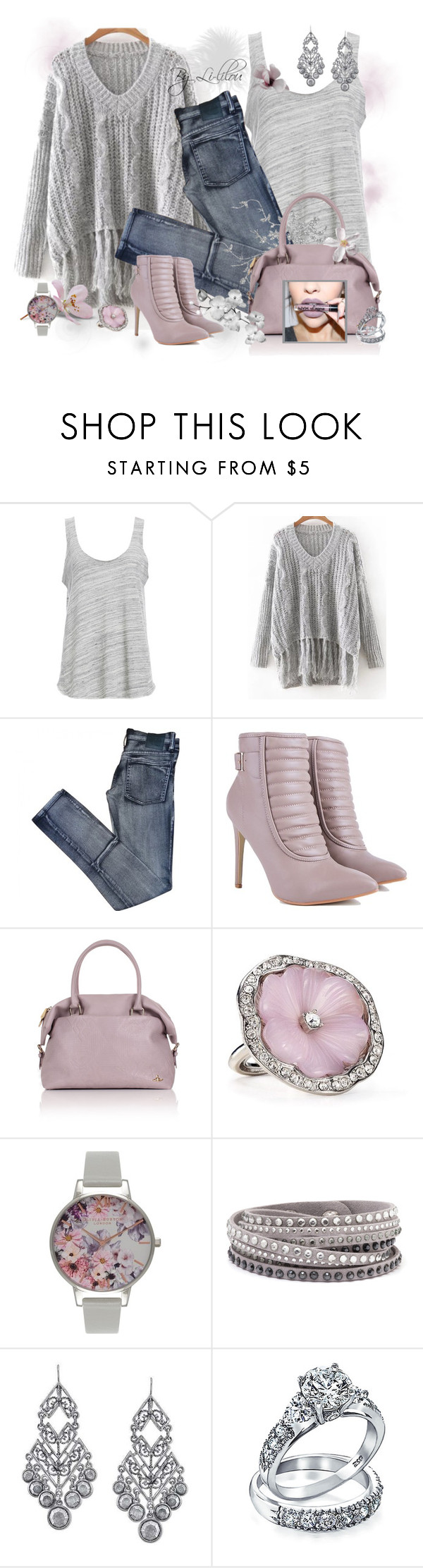 """""""Woman..."""" by li-lilou ❤ liked on Polyvore featuring Project Social T, Cheap Monday, Vivienne Westwood, Kenneth Jay Lane, Olivia Burton, NYX, 1928 and Bling Jewelry"""