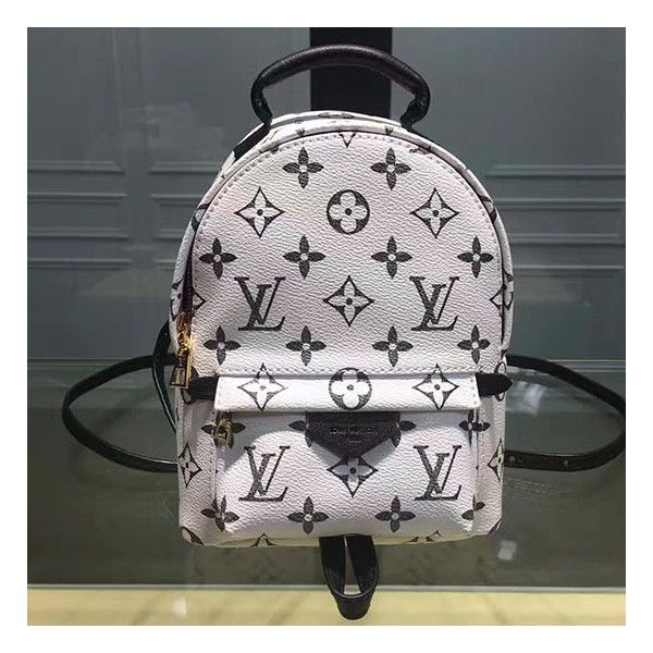 f14870f037a8c Louis Vuitton Monogram Canvas Palm Springs Backpack Mini White ❤ liked on  Polyvore featuring bags, backpacks, mini bags, mini rucksack, canvas bag,  ...