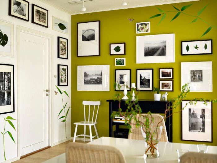 Like the green, white and black contrast | Neat Ideas | Pinterest