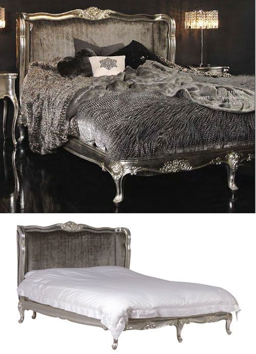 Marvelous Chateau Beds #4: Chateau Silver Upholstered French Bed Kingsize 5ft