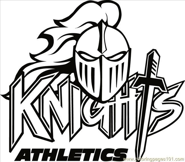 knight logo free printable coloring page Knights Logo B2bw