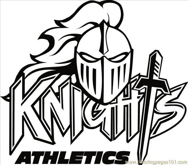 knight logo free printable coloring