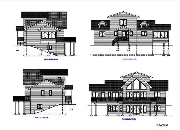 Cottage plans from different angles Cottage plan