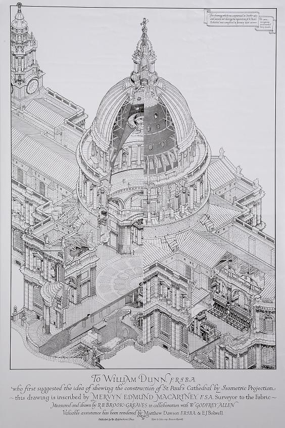 St Paul Isometric Isometric Drawing Architecture Drawing