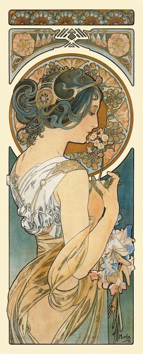 art nouveau poster alphonse mucha art nouveau print primrose p005 is part of Alphonse mucha art - Art nouveau poster  Alphonse Mucha  Art nouveau print  Primrose, P005 artNouveau Poster