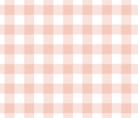 Small Blush Pink Buffalo Check Gingham Fabric By Sugarfresh