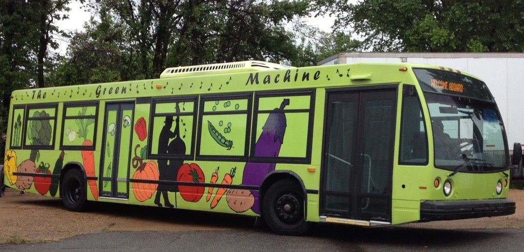 The Green Machine is a mobile food market that brings