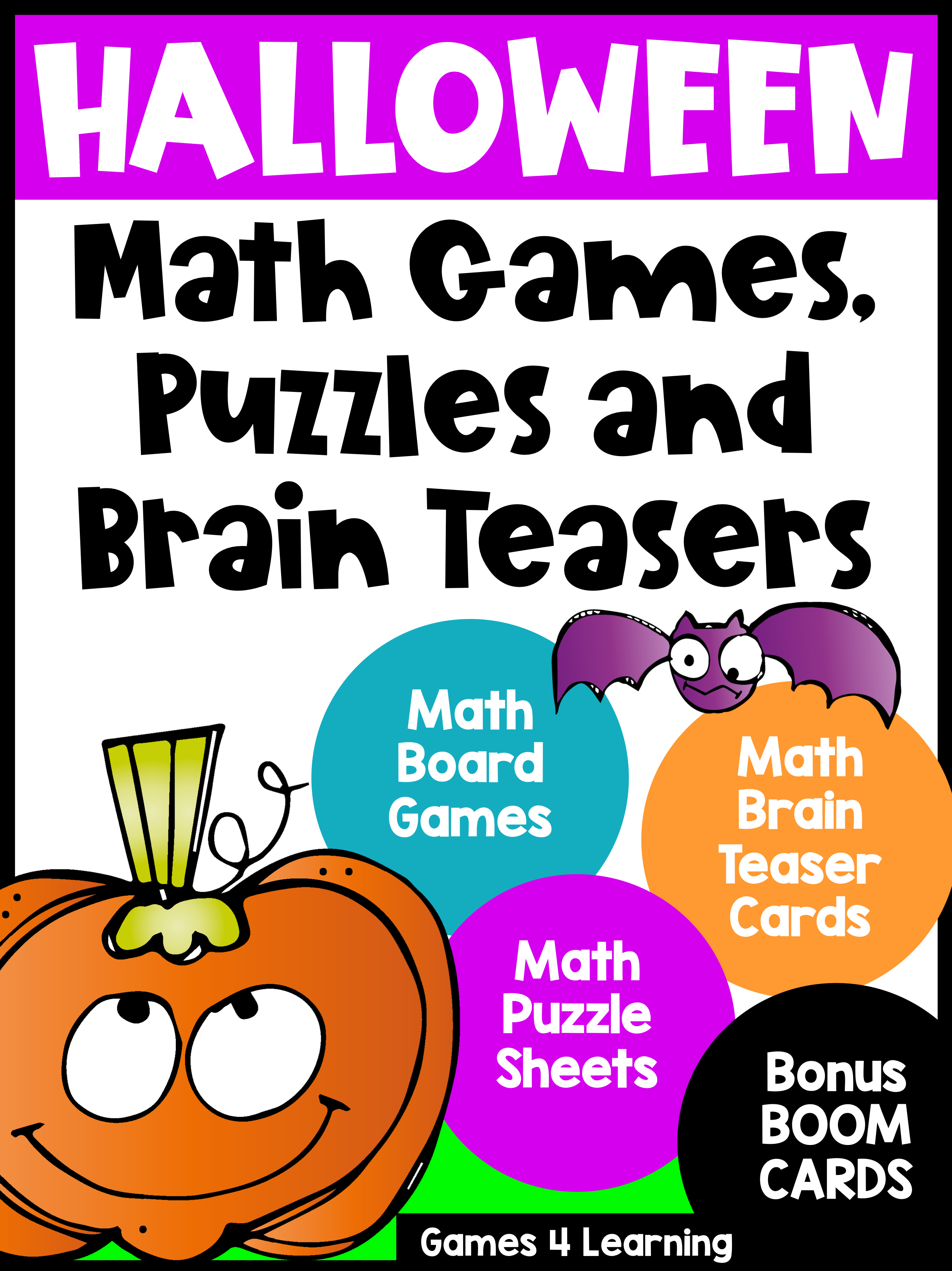 Halloween Math Worksheets Games And Brain Teasers With