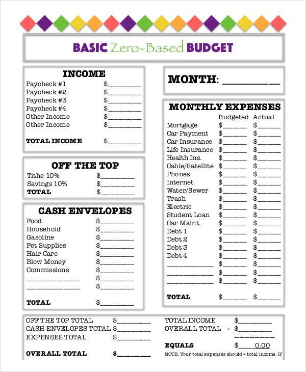 basic-zero-based-budget-worksheet-template-download Budget - budget worksheet template