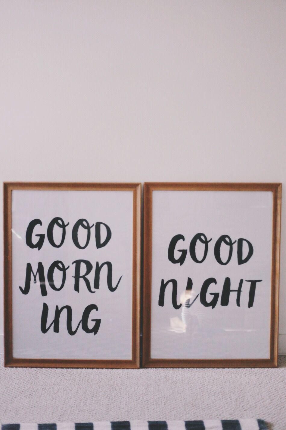 Good Morning + Good Night | Free printable, Free and Upstairs hallway