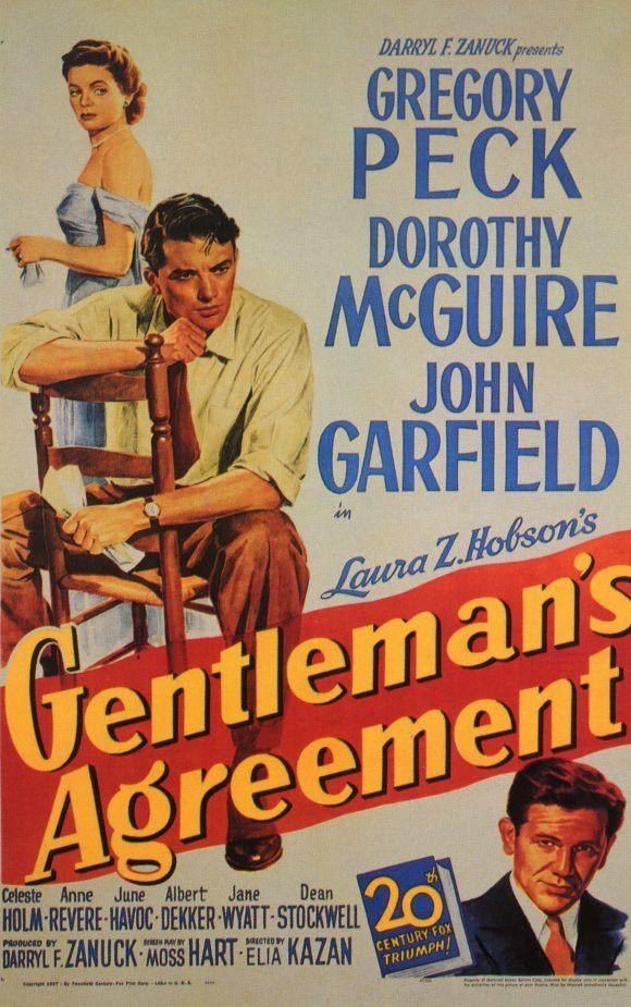 Gentleman/'s agreement Gregory Peck vintage movie poster