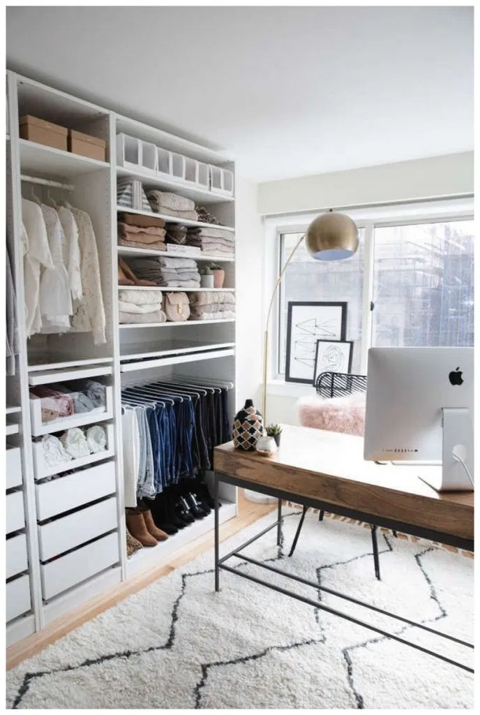 70 Open Closet Ideas For Small Bedrooms Home Decoration Home Decor Bedroom Closet Designs Home Office Design