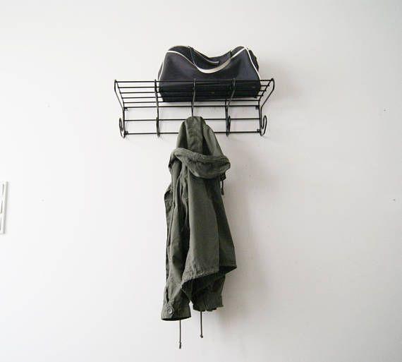 String Garderobe Wandgarderobe Garderobe Metall Schwarz Mid
