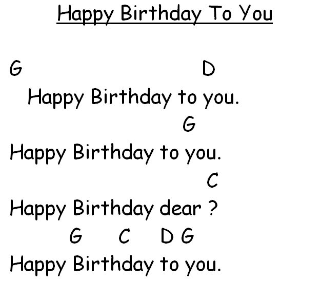 Happy Birthday To You Ukulele Chords - ARCHIDEV