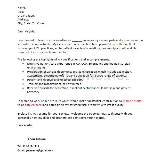 How Rn Cover Letter Should Look Like Http Www Rnresume Net Check Our Rn Resume Samples Check Ho Job Cover Letter Cover Letter For Resume Nursing Cover Letter