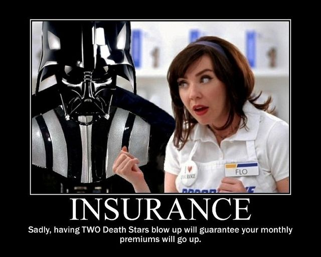 Star Wars Darth Vader Buys Insurance From Flo Insurance Humor