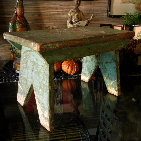 Hand Made Primitive Rustic Steep Stool / by EclectibleParts4U, $49.00