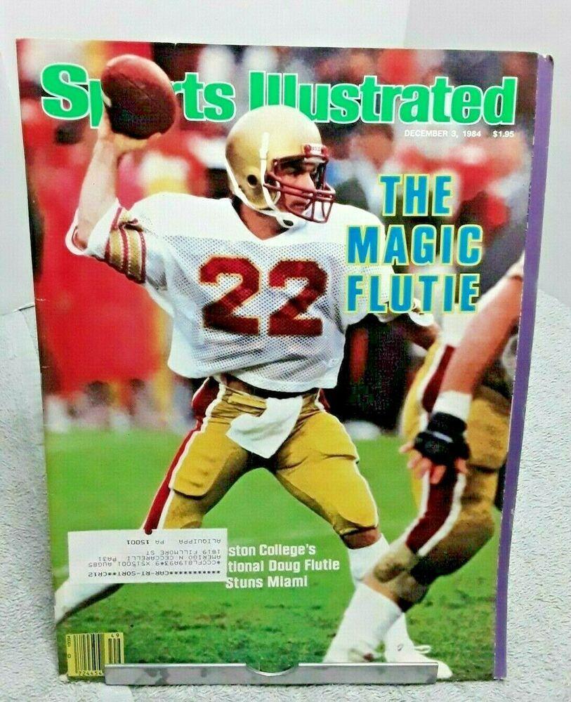 Sports Illustrated December 1984 Doug Flutie Boston