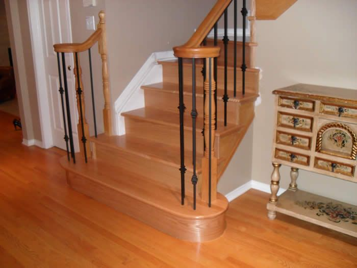 Hardwood Floor Stairs and Railing Check out wood railing  http://awoodrailing.com - Allure Flooring For Stairs Ideas ~ Http://modtopiastudio.com/how