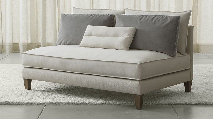 armless loveseat from crate u0026 barrel
