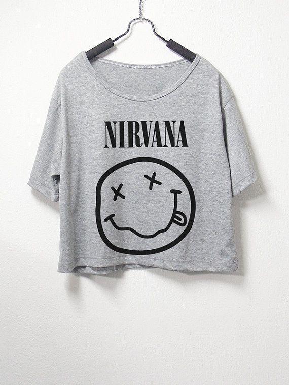 Nirvana Blue Smiley Face Girls Juniors Black Long Sleeve Shirt New Officia Merch