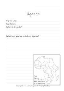 Uganda Flag Printables With Images Country Facts Uganda