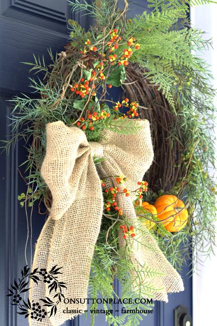 Bittersweet and Burlap Wreath