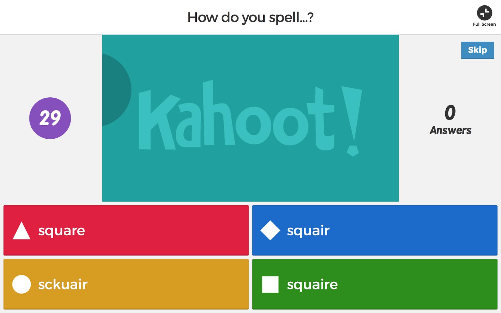 Kahoot For Spelling