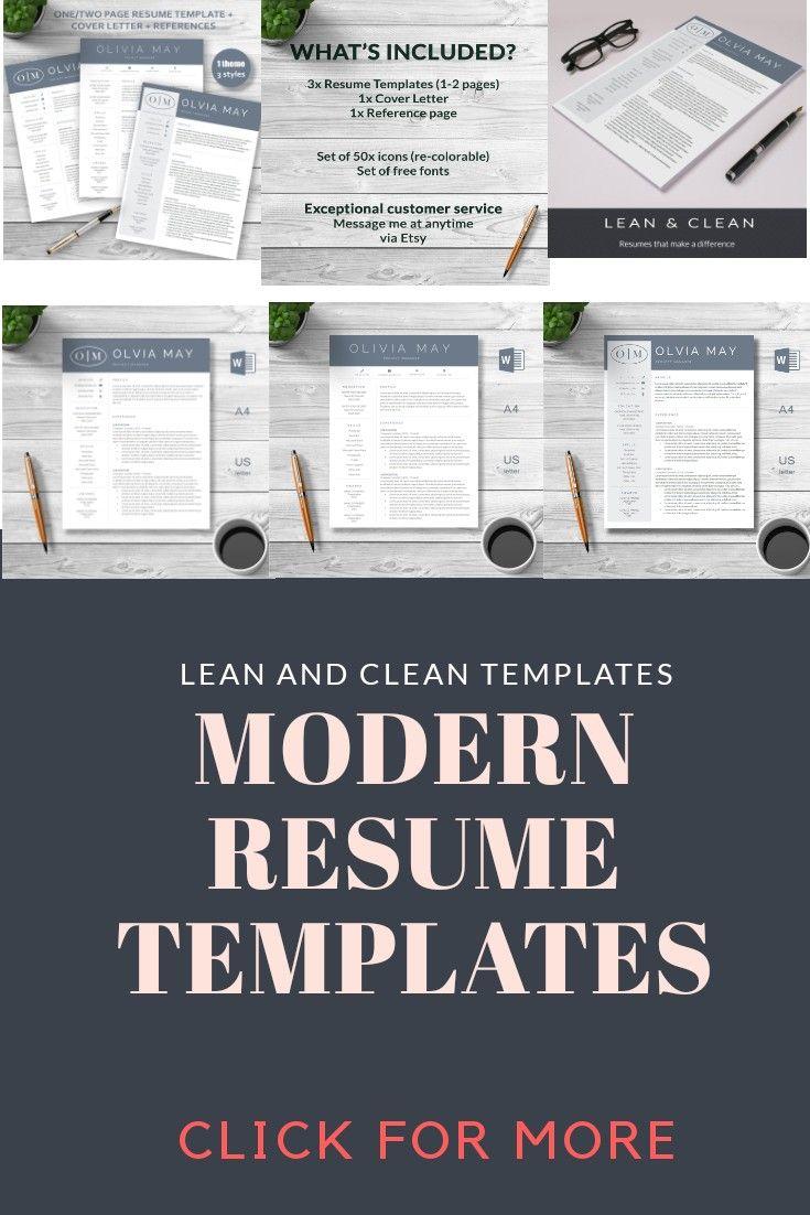 teacher resume cover letters Modern ResumeResume Bundle