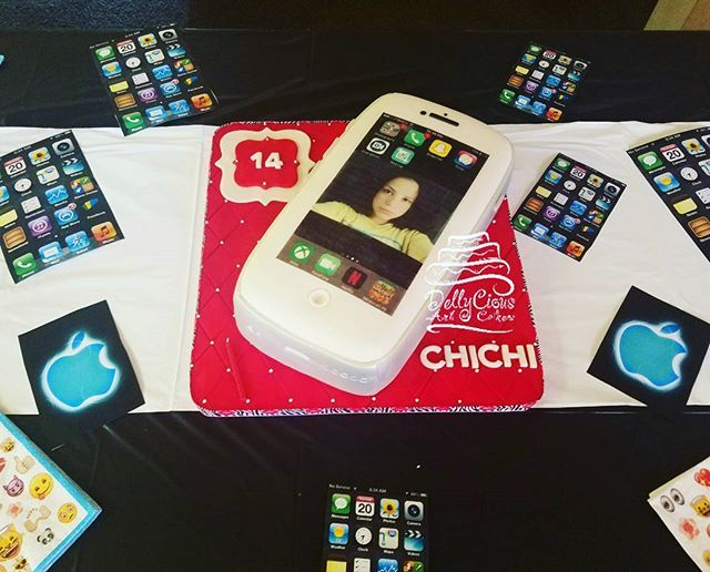 Beautiful Table set up for IPhone cake By diazsdbecky2813 All