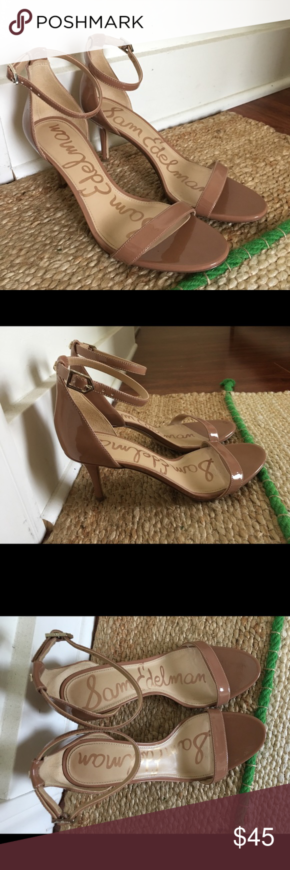 5a1c730cbfc Sam Edelman Patti Ankle Strap Sandals Classic and classy patent sandals.  The color is called