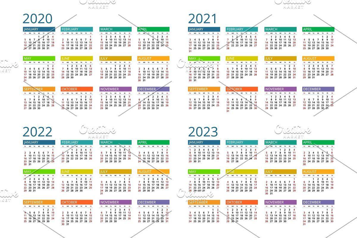 2020 2021 2022 2023 Calendar Calendar Calendar Template