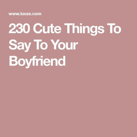 Complimenting your boyfriend