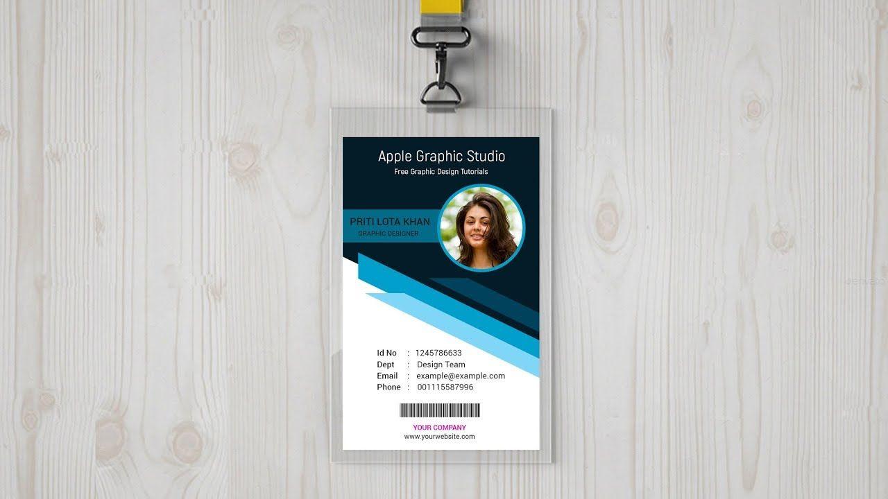 Corporate Id Card Design Photoshop Cc Tutorial Photoshop Design Corporate Id Card Design